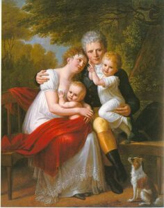 Portrait of Count Ferdinand von Zeppelin and his family