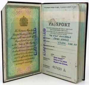 Harold Wilson passport