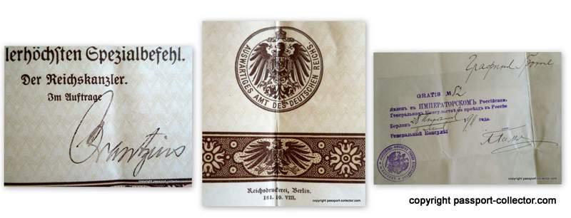 German diplomatic passport lady