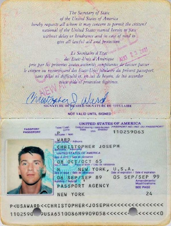 A Punk Rockers U.S. Passport - C.J. Ward - Ramones