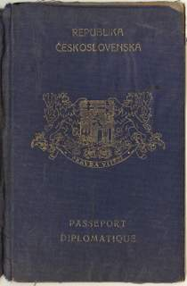 A remarkable Czechoslovak diplomatic passport and its bearer´s destiny