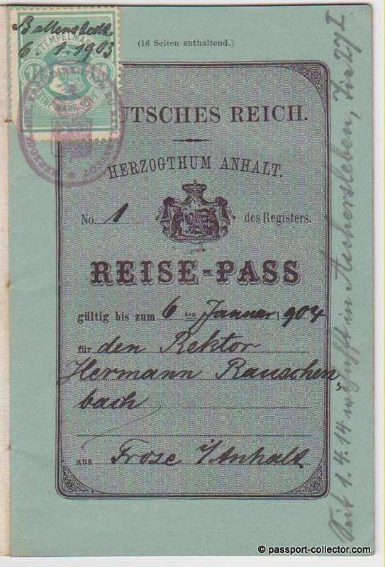 Anhalt, Duchy, Germany 1903