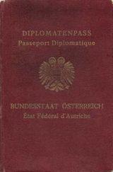 Diplomatic Passport Austria 1935 - Voting Stamps Anschluss