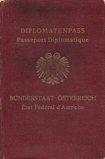 Diplomatic Passport Austria 1935 - Voting Stamps Anschluss