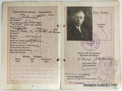 The Passport of Zionist Leader Vladimir Jabotinsky