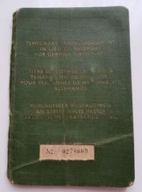 The passport of Prof. Dr. Franz Böhm - Luxembourg Agreement