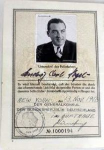 One Of The Very First Federal Republic Of Germany Passport