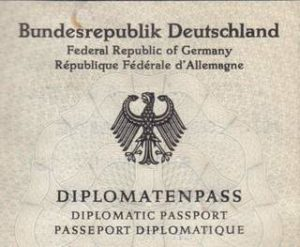 German History - Passport of Germany's 1st President