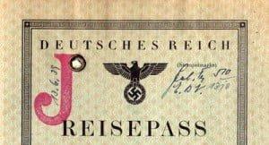 German Nazi Passport Law - The big red J for Jew