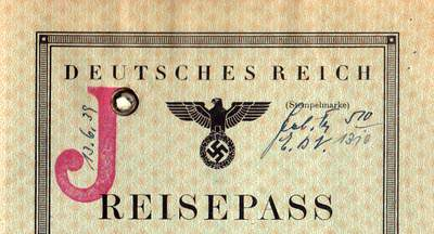 German Nazi Passport Law - The big red J for Jew