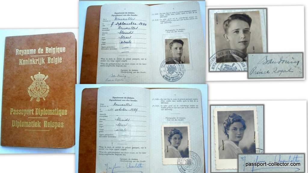 Royal Belgian passports Prince/Princess