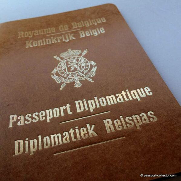 Belgium Diplomatic Passports Gilbert Mullie and wife 1954