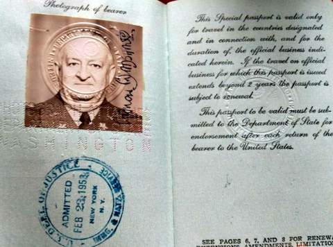 US passport 1953 – European Command General