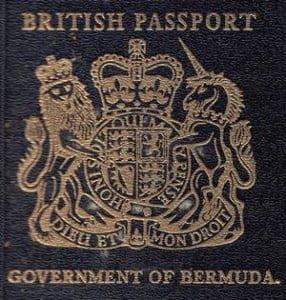 British Passport - Government Of Bermuda Issued 1962