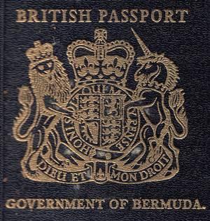 British Passport – Government Of Bermuda Issued 1962