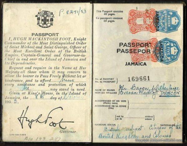 British Jamaica Passport