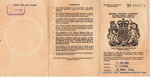 The Simplicity Of A Travel Document The British Visitors Passport