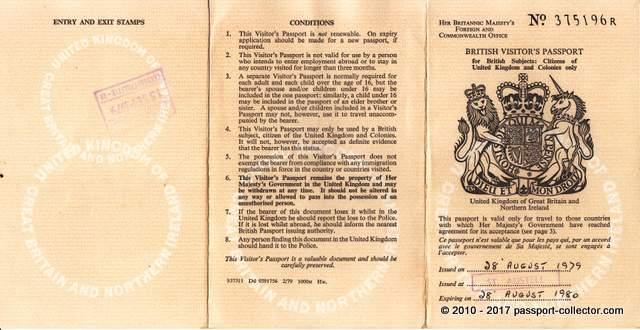 The British Visitor's Passport History