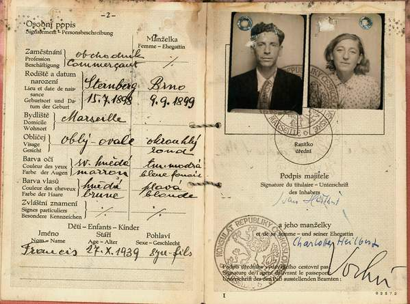 "One Of Varian Fry's ""Passport To Freedom"" here a Czechoslovak Passport"