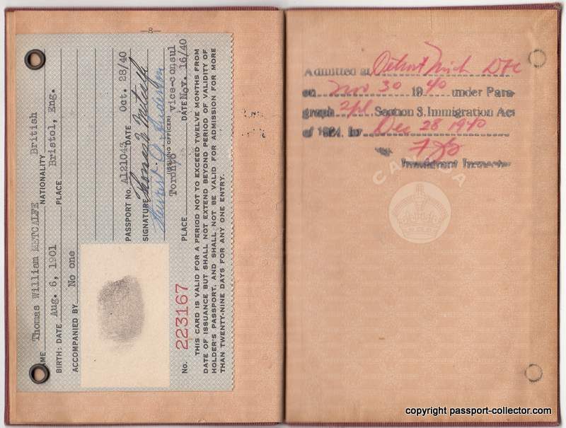 Canada passport traveling USA