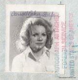 American Movie Star Passport Of Baby Doll - Carroll Baker