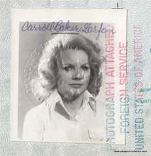 American Movie Star Passport Of Baby Doll - Carroll Baker