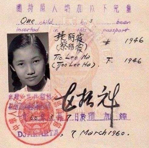 Chinese Passport of a Woman with two Children 1951