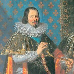 Claude Bouthillier, grand trésorier de l'Ordre du Saint-Esprit, à la réception d'Henri II d'Orléans, duc de Longueville, le 15 mai 1633.