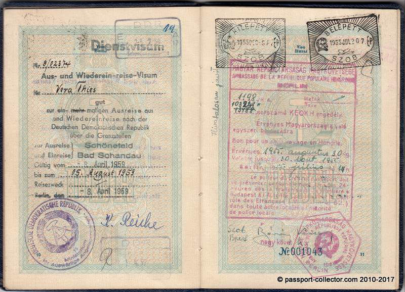 Is this one of the earliest East German (GDR) passports ever?