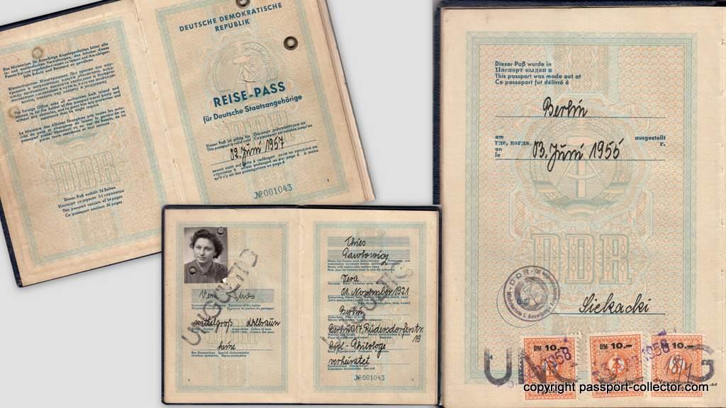 DDR passport 1955
