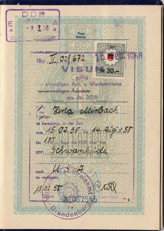 DDR 1958 USA