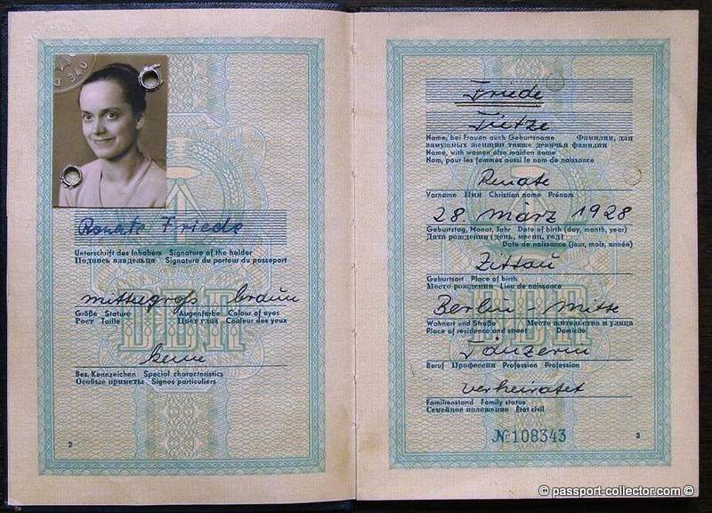East German Passport Of A Dancer Traveling To Iraq