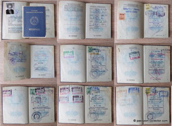 A very unusual East German passport with plenty of US visas