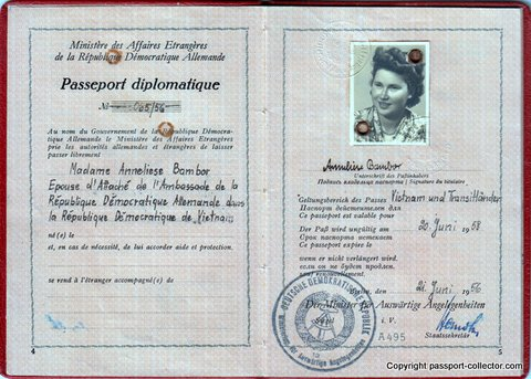 A fantastic GDR DIPLOMATIC passport from 1956
