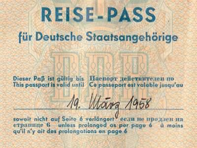 Burma and Congo visa in East German passport 1956