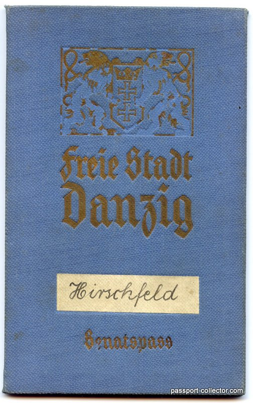 Danzig Diplomatic Passport