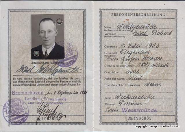 unique danzig-germany passport