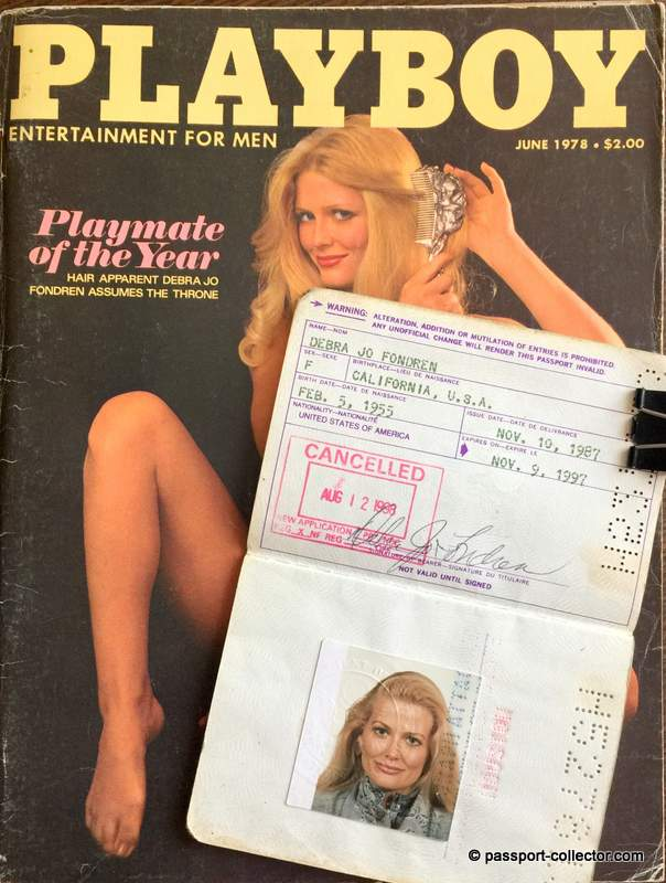 Debra Jo Fondren Passport - Playboy playmate of the year