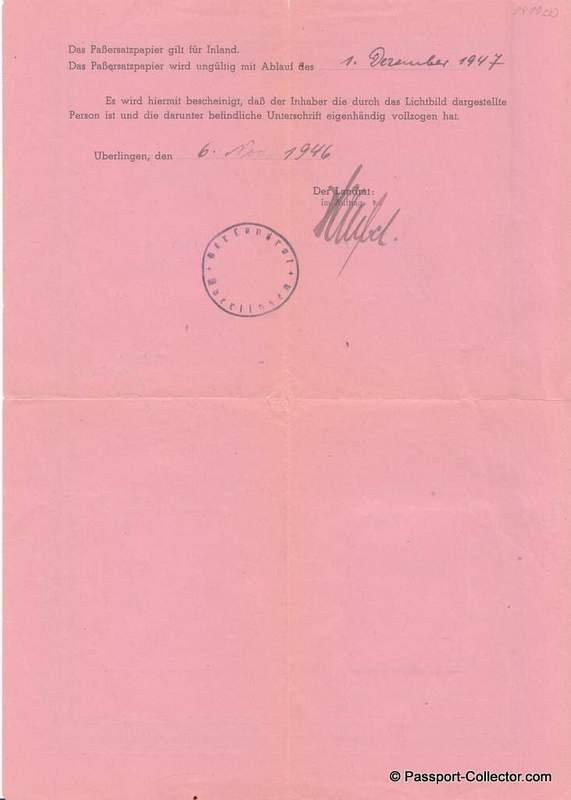 German Alien passport 1946