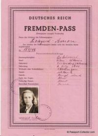 Unique Alien Passport - German Empire - Fremden-Pass