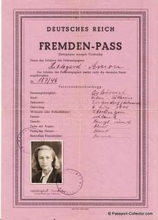 Unique Alien Passport – German Empire – Fremden-Pass