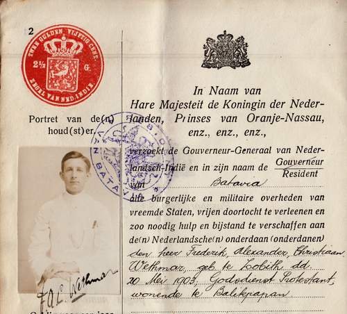 Dutch East-Indies passports