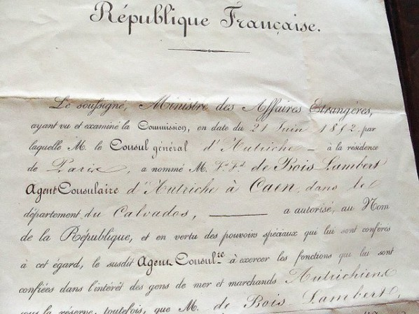 Appointment Letter France 1852