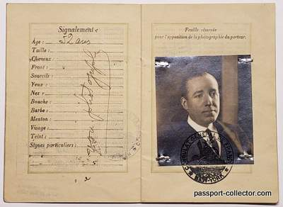 Pierre Cartier's French passport issued in New York