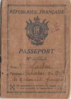 French Passport Issued In Spain During The Civil War