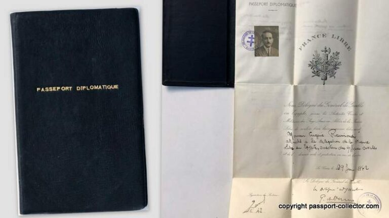 Free France (France Libre) Diplomatic Passport