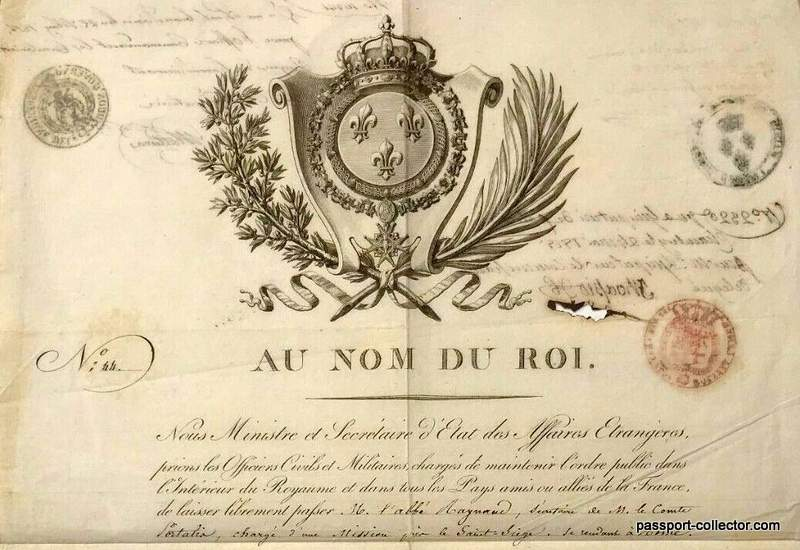 French Diplomatic Passport Richelieu