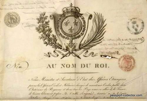 French Diplomatic Passport, Duke of Richelieu