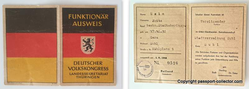 Emergence GDR People's Congresses