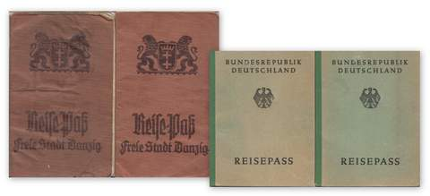 Danzig-Germany passport set for the same couple